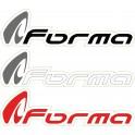 STICKERS MOTO FORMA (5 pièces) 15.6 x 4.4 WHITE