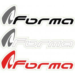 STICKERS MOTO FORMA (5 pièces) 15.6 x 4.4 RED