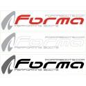STICKERS VOITURE/ VAN FORMA 70 x 16.5 CM RED